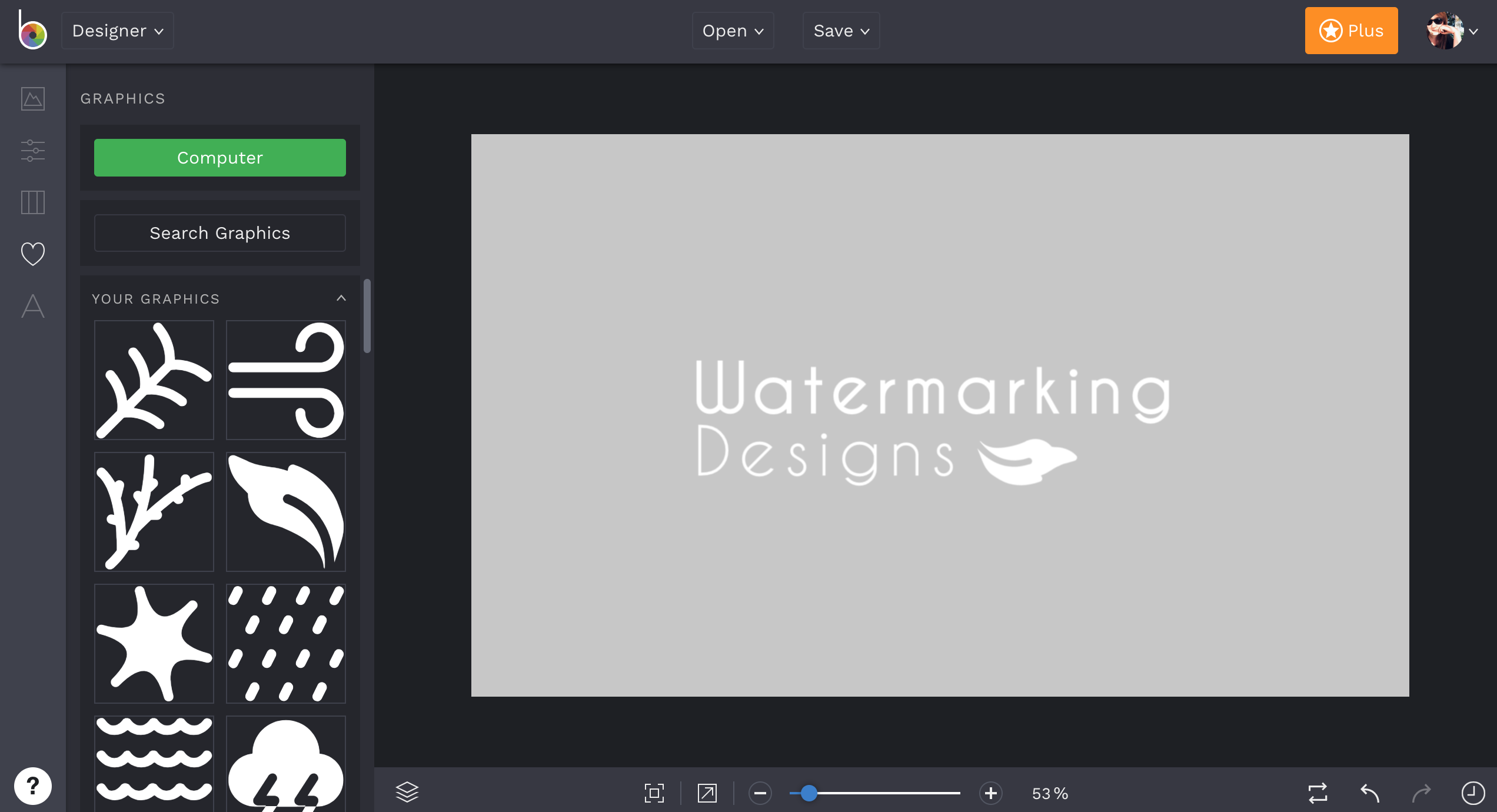 Customize your Watermark