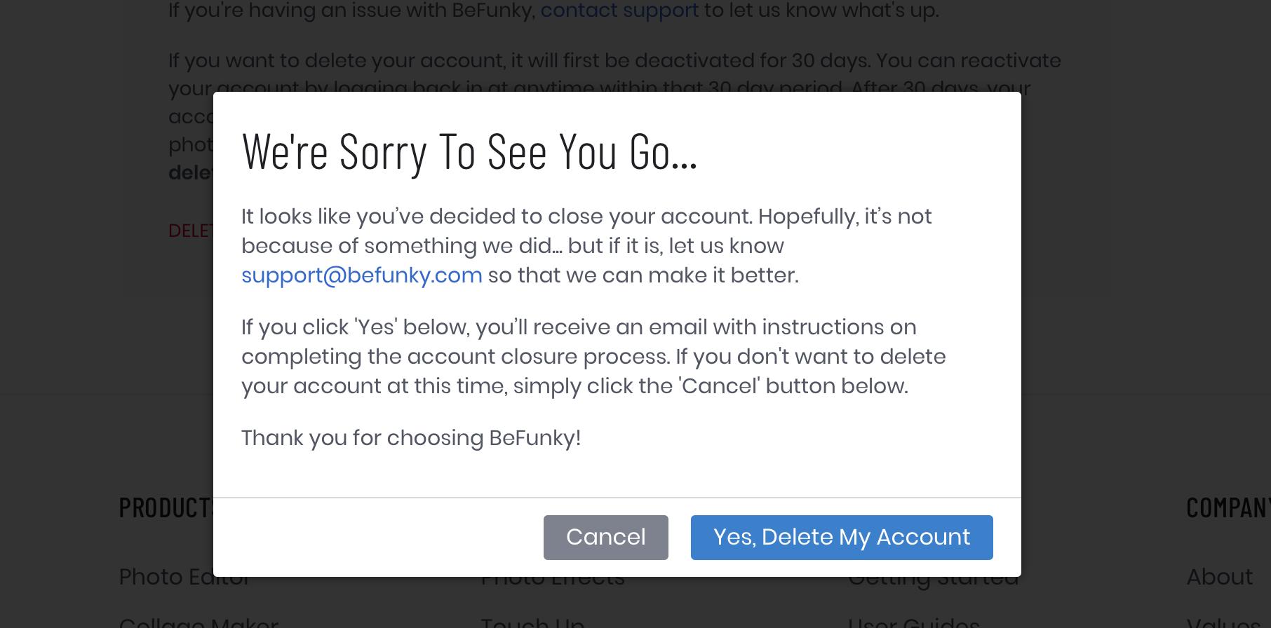 How Do I Close My Account? – BeFunky Help Center